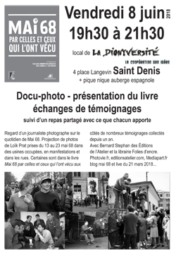 flyer invitationdocu photo 8 juin 2018 à la dionyversité 4 place langevin à St Denis